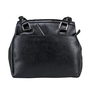 Concealed Carry Braided Shoulder Bag Black