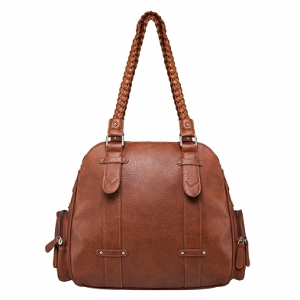 Concealed Carry Braided Shoulder Bag BROWN