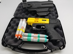 FIRESTORM JPX 4 LE Shot Yellow Pepper Gun  Bundle with LEVEL 2 Holster
