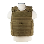 NcStar Expert Plate Carrier Vest Tan with Level IIIA Soft Panels