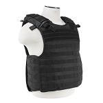 Quick Release Plate Carrier Vest - Black Bundle including 2 Level IIIA Soft Plates