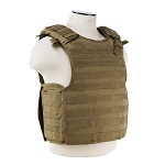 Quick Release Plate Carrier Vest - Tan with Level IIIA Soft plate Bundle