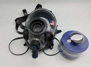 SGE 400/3 BB 40mm NATO CBRN Gas Mask w/ spectacle frame & 2022 Mestel Filter and Drinking Tube