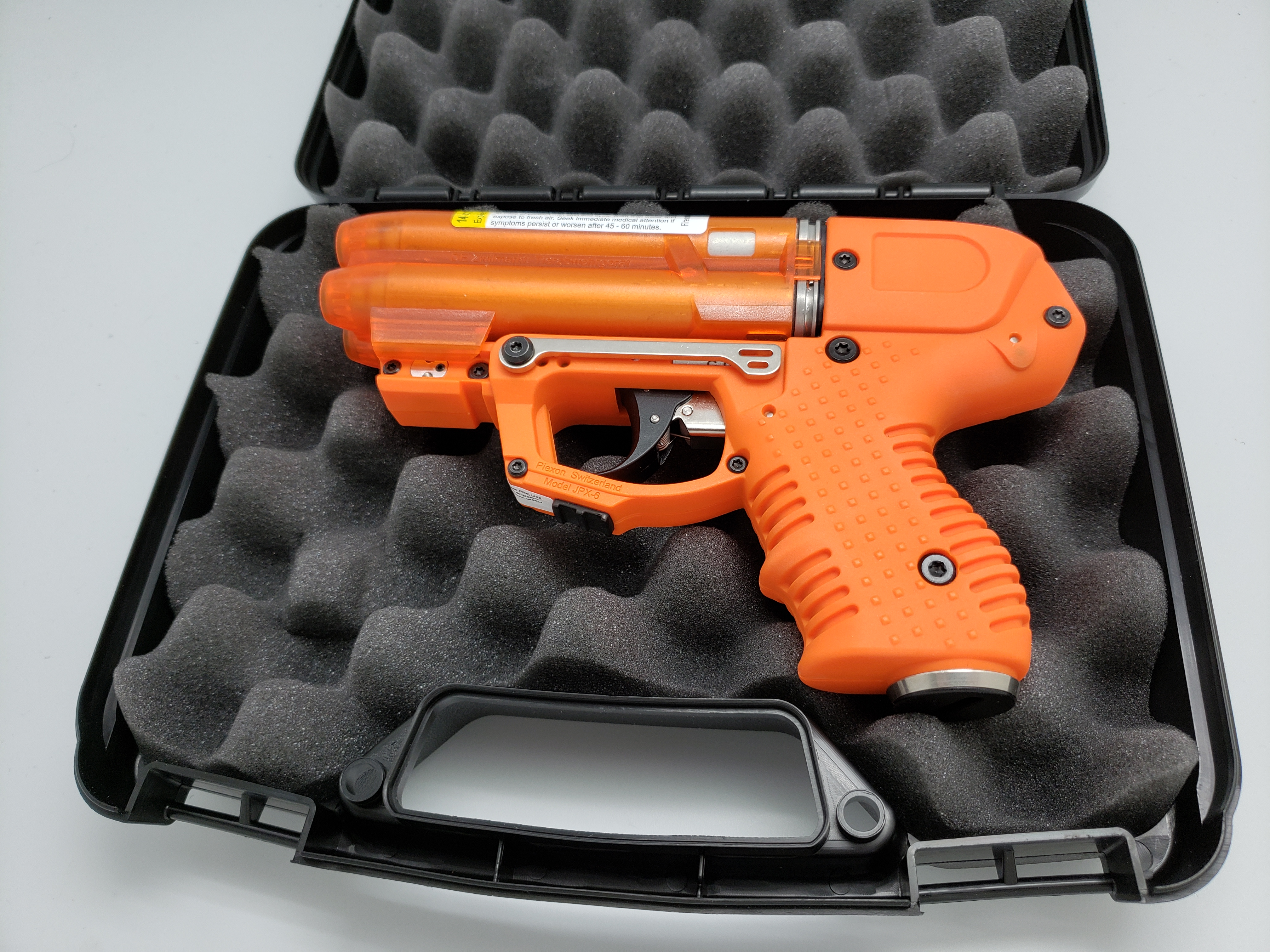 FIRESTORM JPX 6 Compact 4 Shot Pepper Gun Orange with Laser