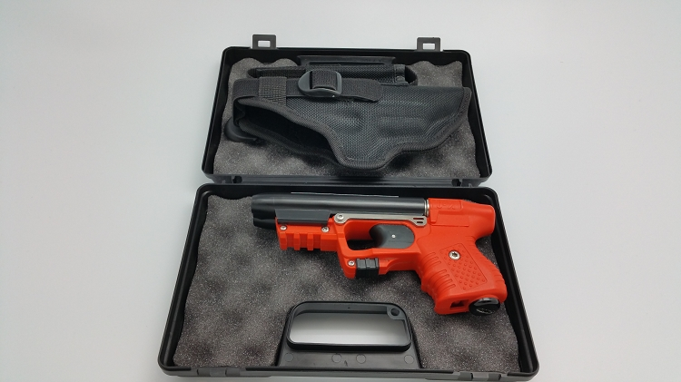 Piexon JPX 2 LE with Orange Frame with laser and Cordura Belt Holster
