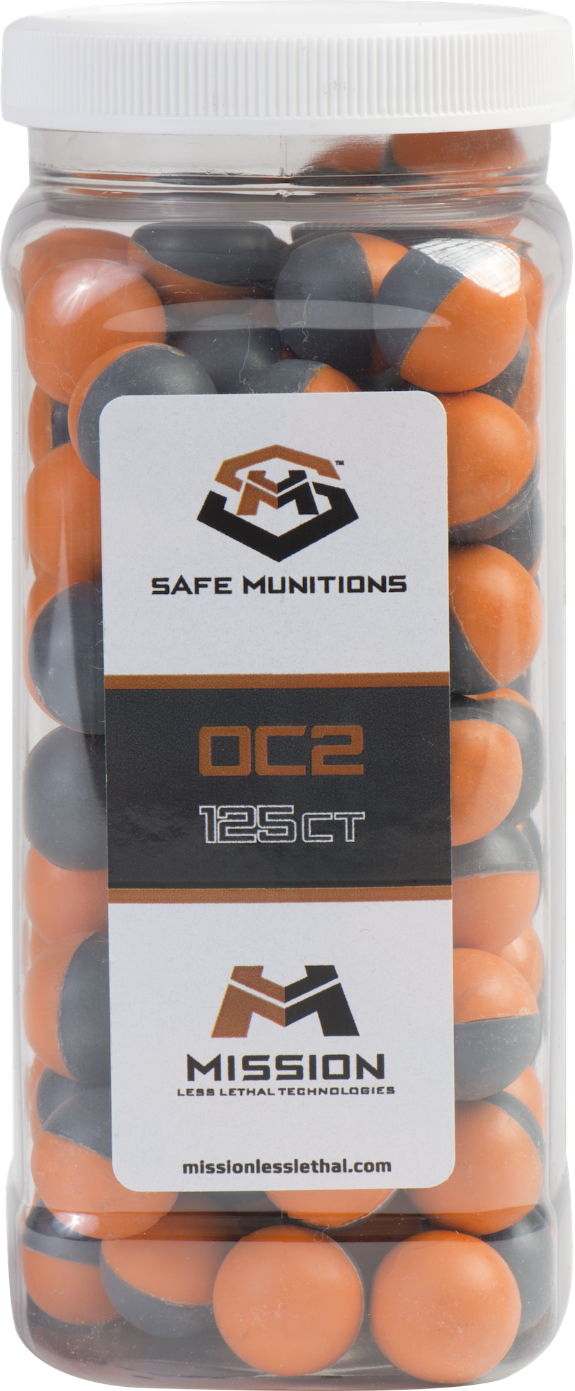 Law Enforcement Grade PAVA Max Payload Live Agent Less Lethal Rounds (10X Hot) Bottle of 125