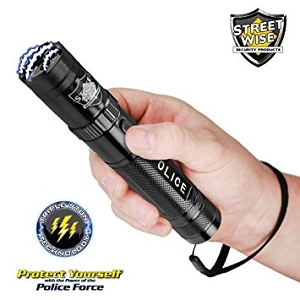 Streetwise Police Force 9,200,000 Tactical Stun Flashlight Black