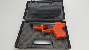 Firestorm JPX 2 LE Orange Frame with laser and Level II Belt Holster