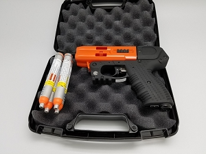 FIRESTORM JPX 4 Shot LE Defender Orange Barrel Pepper Gun with Laser