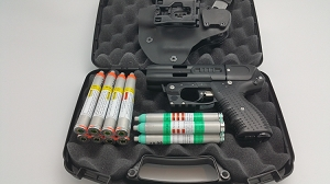 JPX 4 LE Shot Defender Black Pepper Gun Bundle with Laser