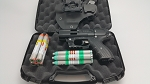 JPX 4 LE Shot Defender Black Pepper Gun Personal Bundle with Level II Holster