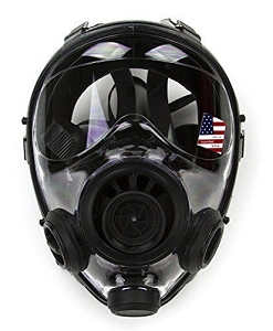 SGE 150 40mm NATO NBC / CBRN Gas Mask w/ spectacle frame & 2022 Mestel Filter