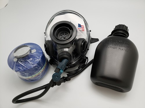 SGE 400/3 BB 40mm NATO CBRN Gas Mask  & 2023 Mestel Filter and Drinking Tube with canteen