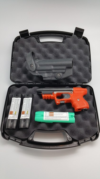 Firestorm JPX 2 LE Orange with Integral Laser Defense Bundle with Level II Holster