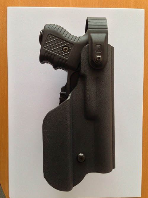 New JPX 2 LE Level II Kydex holster with adjustable mount with Flashflight Pouch LH