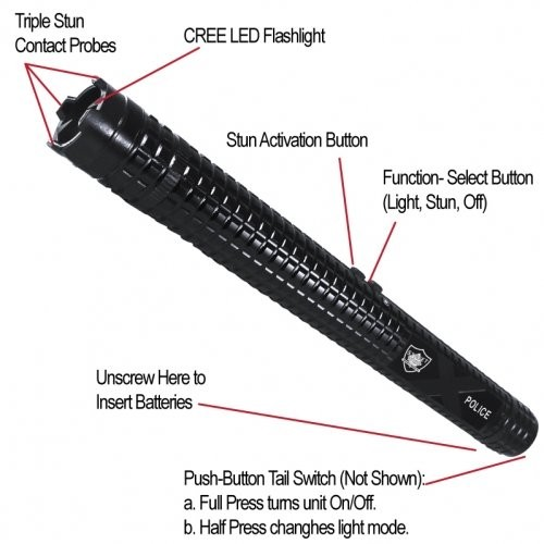 Streetwise Police Force 12 Million Volt Stun Baton