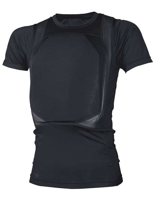 Men's Black TRU-DRI Concealed Armor T-Shirt - Size 3X-Large