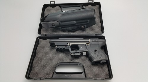 FIRESTORM JPX 2 LE Pepper Gun with Black Frame and laser with Level II  Holster