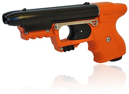 FIRESTORM JPX 2 with Orange Frame with laser and Paddle Holster