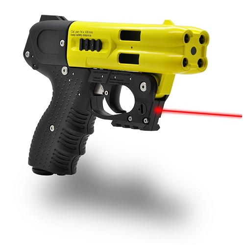 FIRESTORM JPX 4 Shot LE Defender Yellow Pepper Gun with Laser